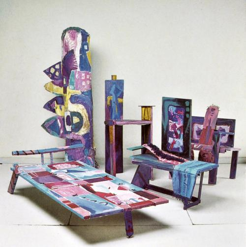 Margaret Kelley: Raketenzimmer mit der Rakete selbst, 1987, Acrylic+Collage+Wood Construction