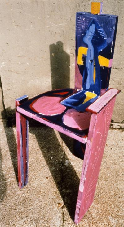 Margaret Kelley: Throne For a Rocket, 1987, Acrylic on Wood, ca. 120 cm